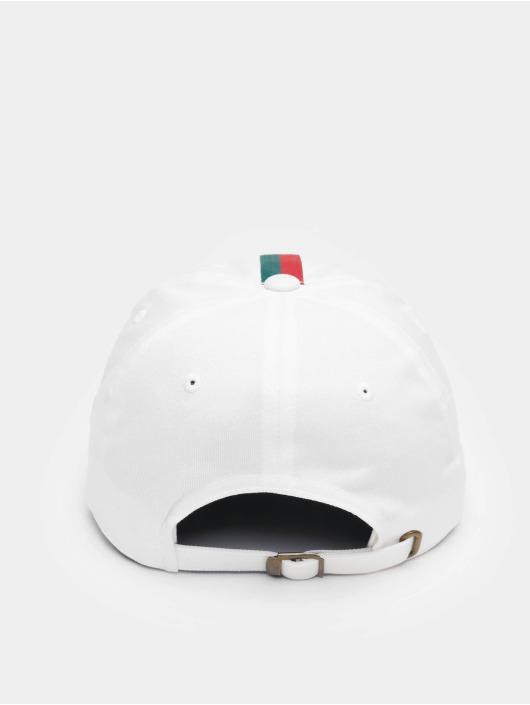 Flexfit Snapback Caps Stripe Dad Hat bialy