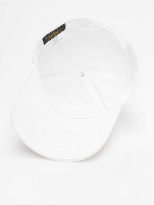 Flexfit Snapback Caps 5-Panel Curved Classic bialy