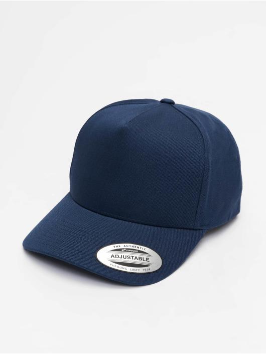 Flexfit Snapback Caps 5-Panel Curved Classic blå