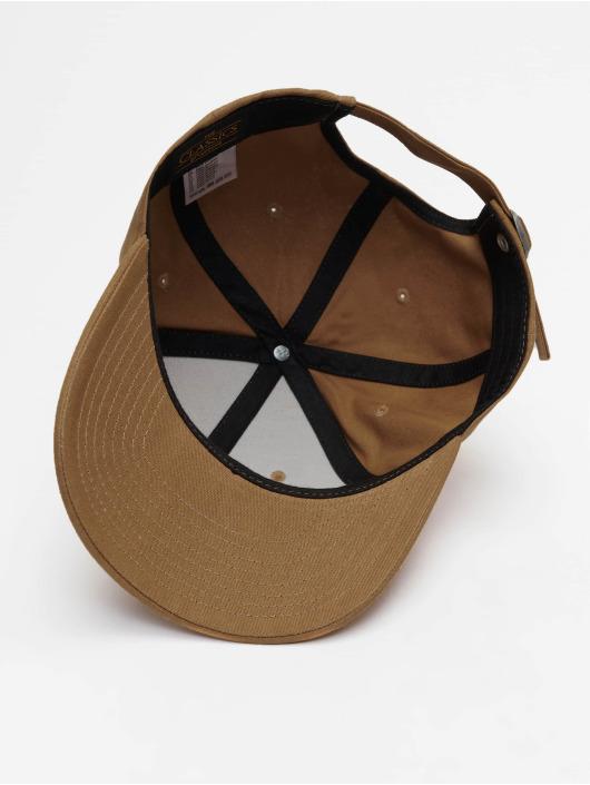 Flexfit Snapback Caps 6-Panel Curved Metal brazowy