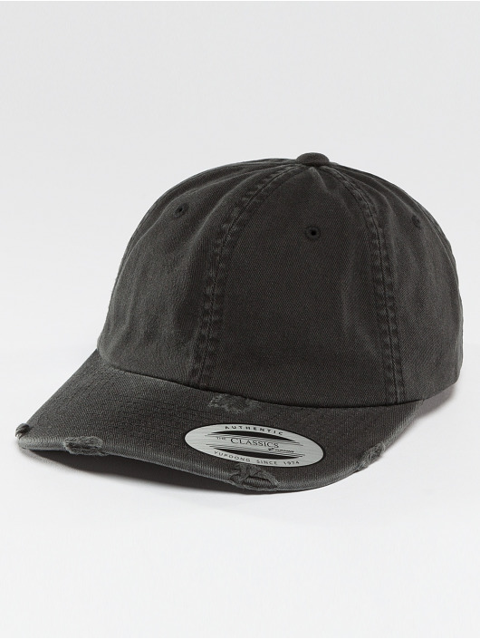 Flexfit Snapback Caps Low Profile Destroyed czarny
