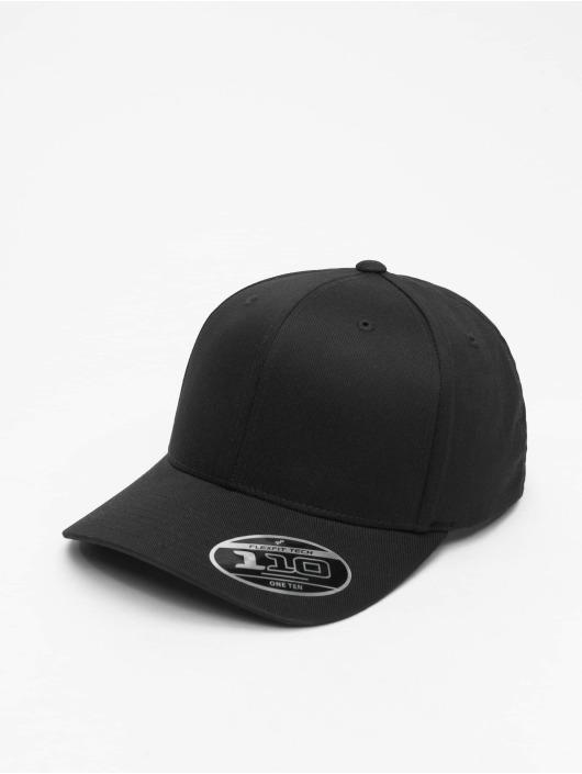 Flexfit Snapback Caps Wooly Combed Adjustable czarny