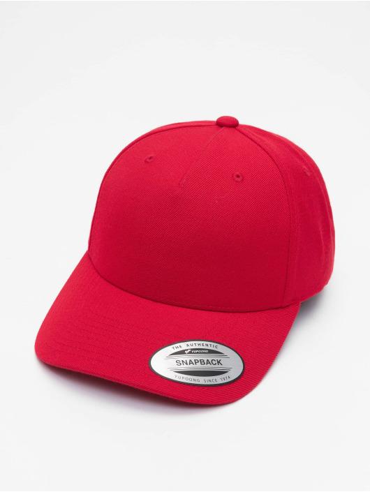 Flexfit Snapback Caps YP Classics 5-Panel Premium Curved czerwony