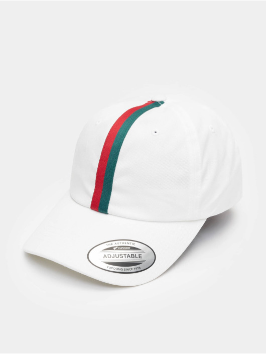 Flexfit Snapback Caps Stripe Dad Hat hvit