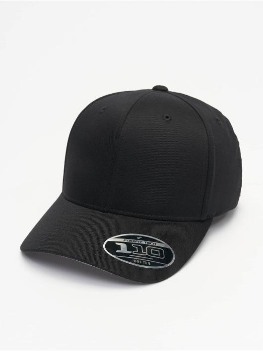 Flexfit Snapback Caps Wooly Combed Adjustable musta