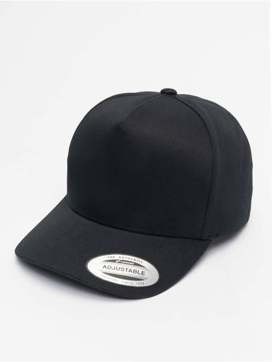 Flexfit Snapback Caps 5-Panel Curved Classic svart