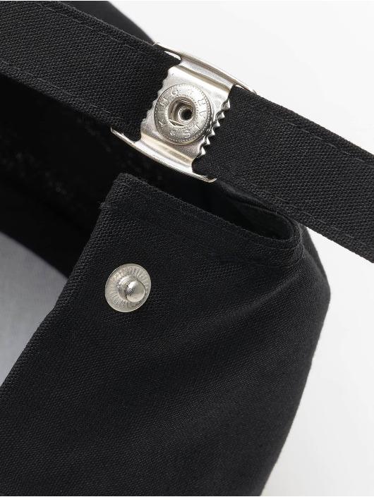 Flexfit Snapback Caps 6-Panel Curved Metal svart