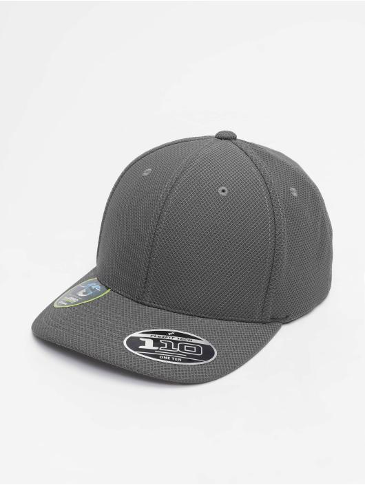 Flexfit Snapback Caps 110 Velcro Hybrid szary
