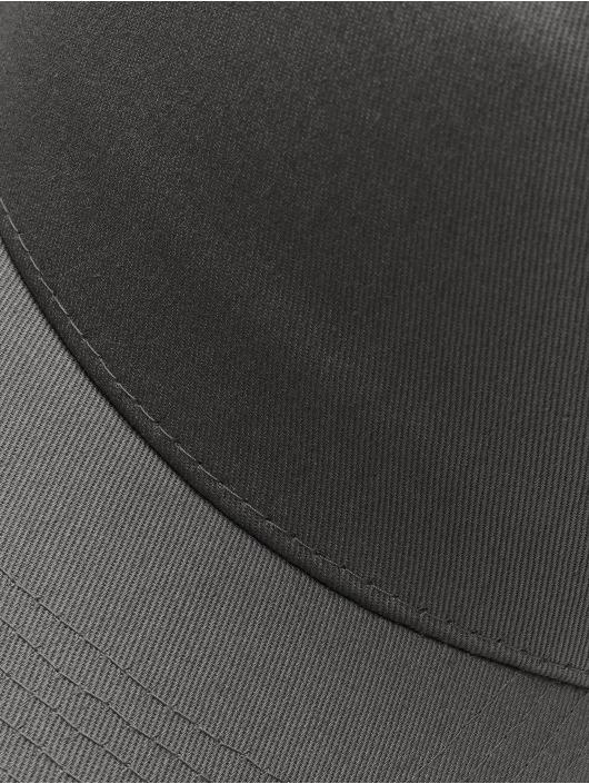 Flexfit Snapback Caps 5-Panel Curved Classic szary