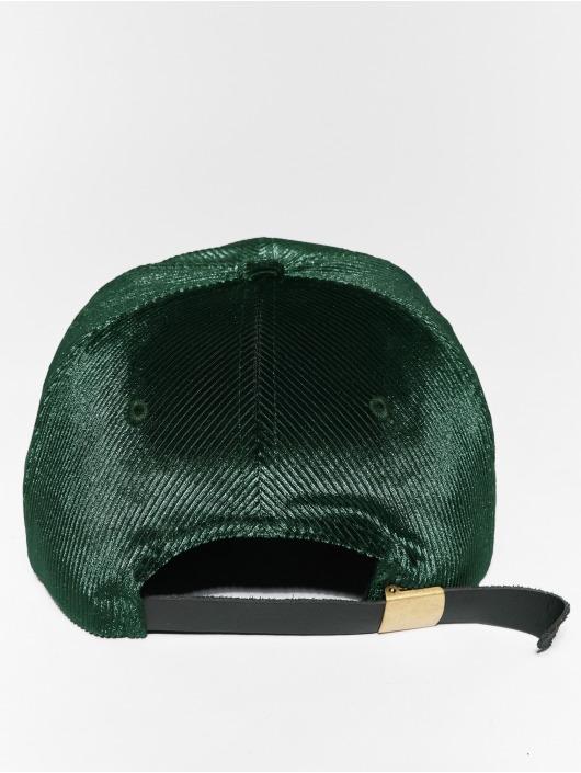 Flexfit Snapback Caps Corduroy Satin zielony