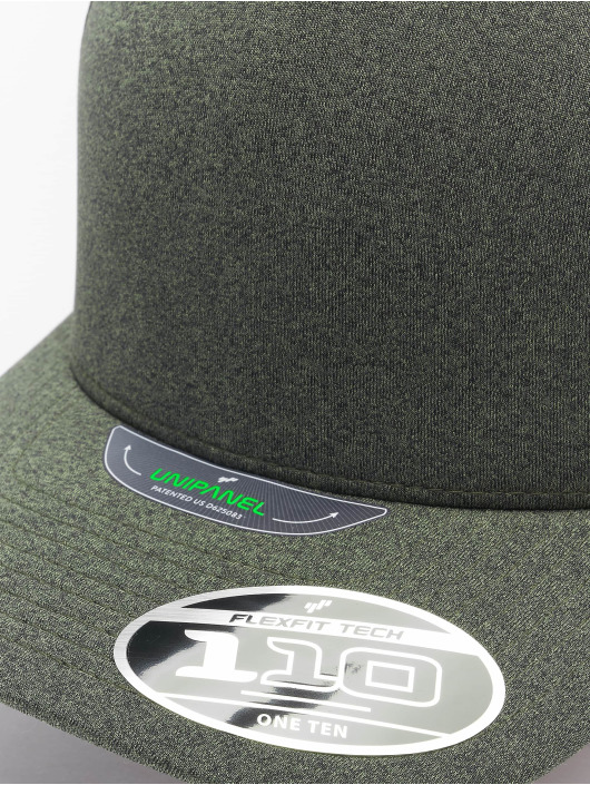 Flexfit Snapback Caps 110 Melange Unipanel zielony