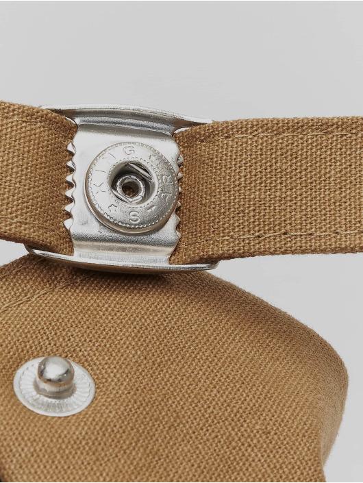 Flexfit Snapback 6-Panel Curved Metal hnedá