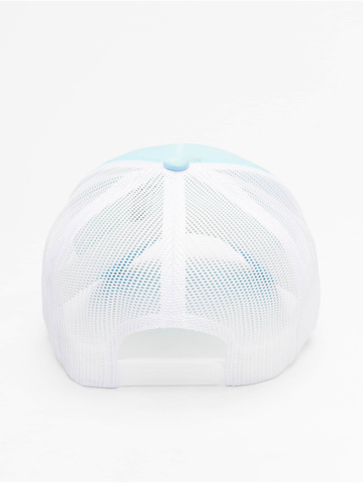 Flexfit trucker cap Curved Visor Foam blauw