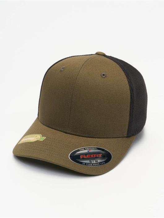 Flexfit trucker cap Recycled Mesh olijfgroen