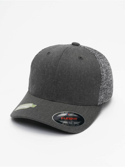 Flexfit Trucker Cap Melange Mesh schwarz