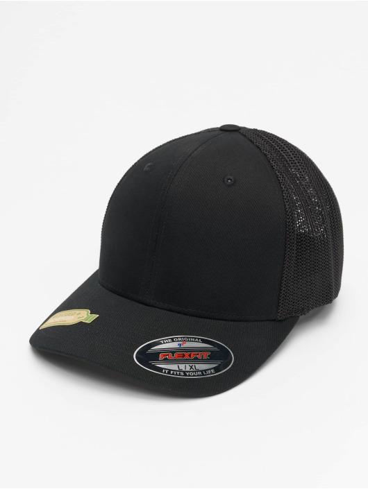 Flexfit Trucker Cap Recycled Mesh schwarz