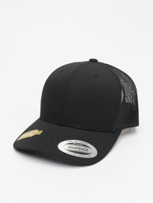Flexfit Trucker Cap Recycled Poly Twill With Recycled Poly Mesh schwarz