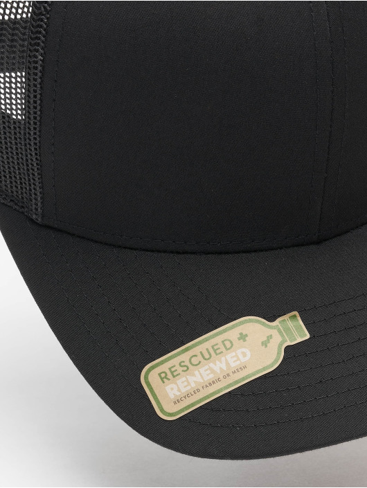 Flexfit Trucker Caps Recycled Poly Twill With Recycled Poly Mesh czarny