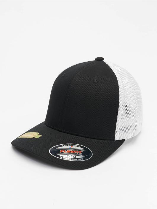 Flexfit Trucker Caps Recycled Mesh czarny