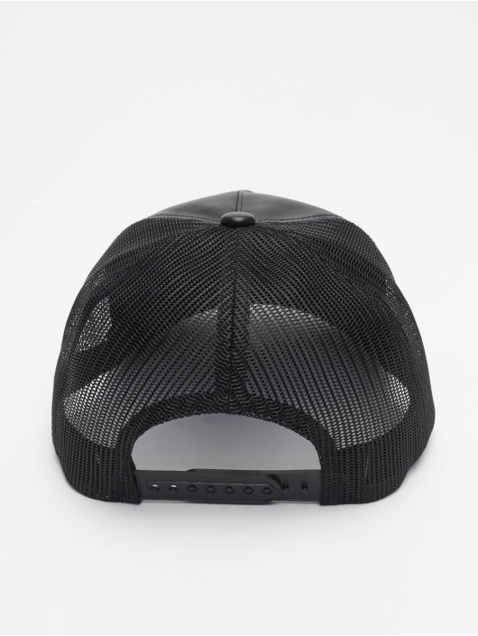 Flexfit Trucker Caps Leather czarny