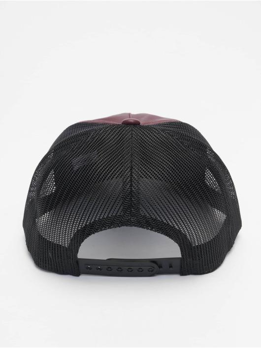 Flexfit Trucker Caps Leather czerwony