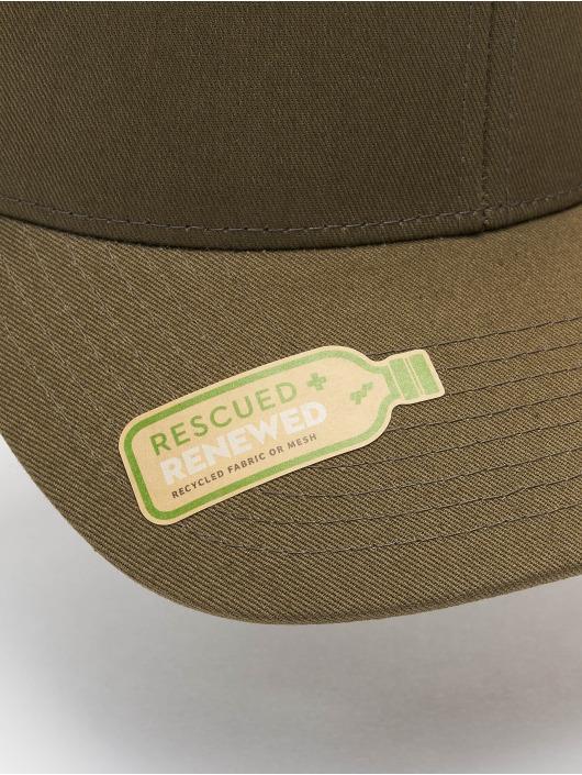 Flexfit Trucker Caps Recycled Mesh oliwkowy