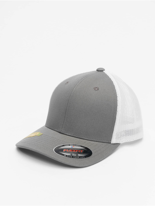 Flexfit Trucker Caps Recycled Mesh szary