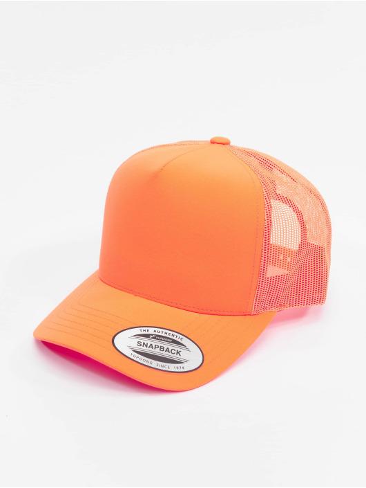 Flexfit Trucker Neon Retro oranžová