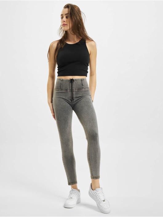 Freddy High Waist Jeans WR.UP Denim 7/8 High Waist Super Skinny grau