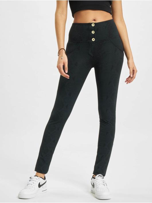 Freddy High Waist Jeans Schlange High Waist Super Skinny Jeans Optik schwarz