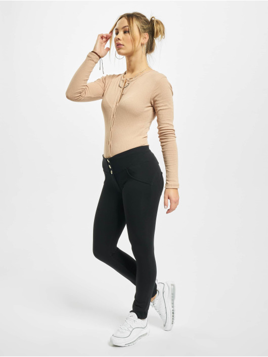 Freddy Leggings/Treggings Basic Medium Waist black