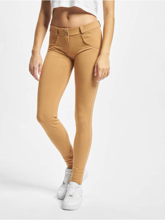 Freddy Skinny Jeans Basic Regular bezowy