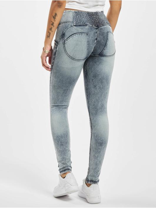 Freddy Skinny Jeans Mid-Rise Acid Wash blau