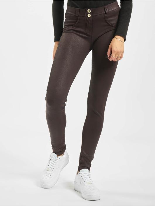 Freddy Skinny Jeans Regular Waist brazowy