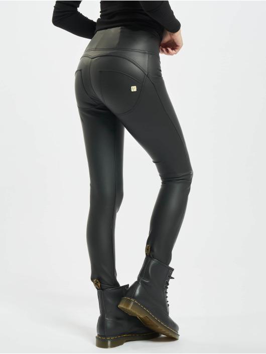 Freddy Skinny Jeans Highwaist Faux Leather czarny