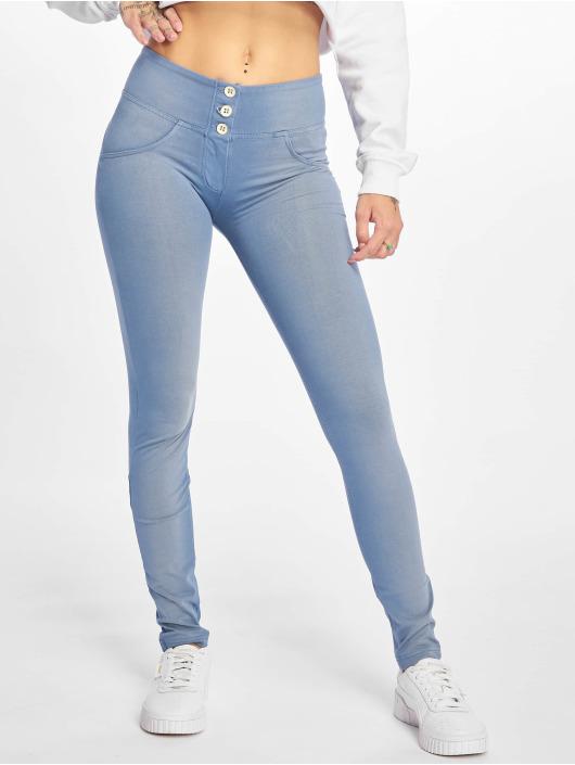 Freddy Skinny Jeans Medium Waist niebieski