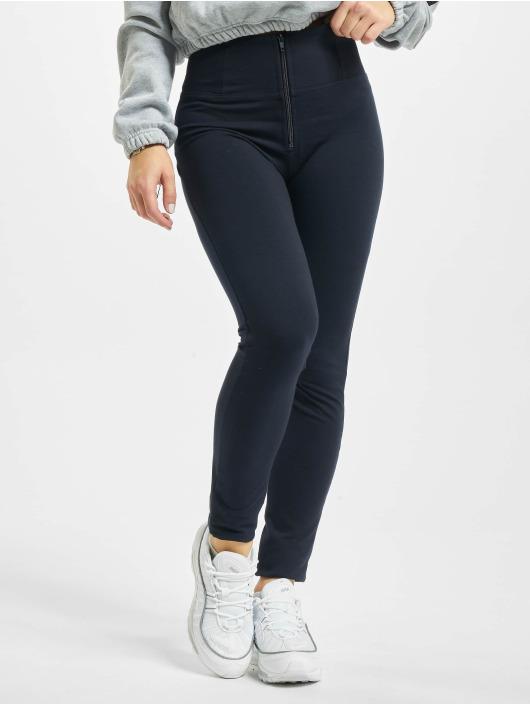Freddy Skinny Jeans Basic High Waist niebieski