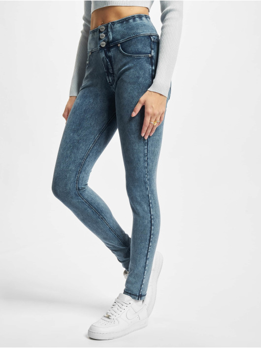 Freddy Skinny Jeans Now High Waist niebieski