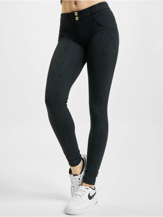 Freddy Skinny Jeans WR.UP Regular Waist Super Skinny Allover Snake Print Reptile schwarz