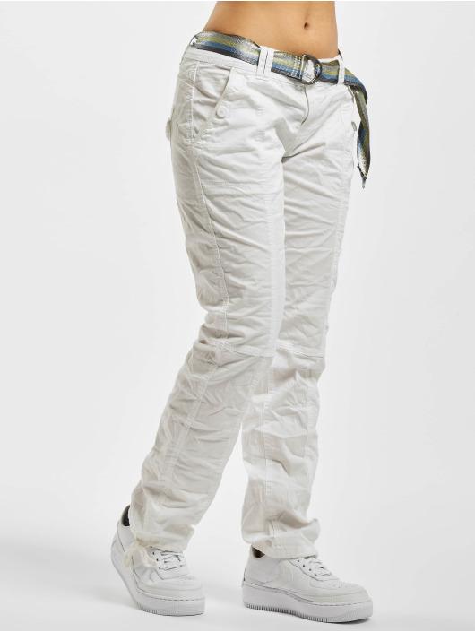 Fresh Made Látkové kalhoty Relana bílý