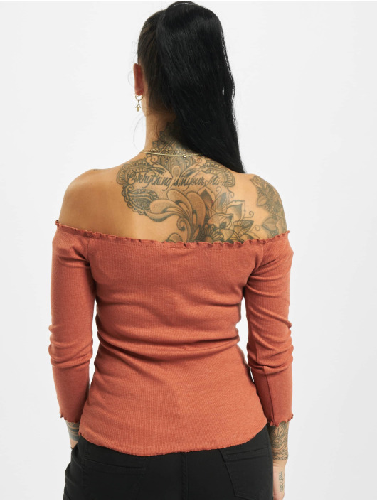 Fresh Made Langærmede 3/4 Off Shoulder orange