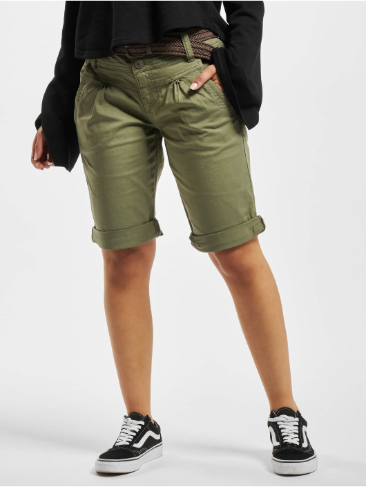 Fresh Made Shorts Bermuda oliv
