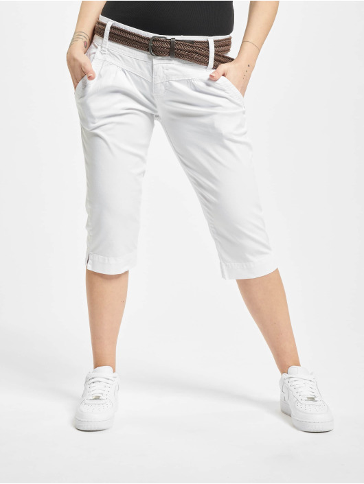 Fresh Made Shorts Belt Capri weiß