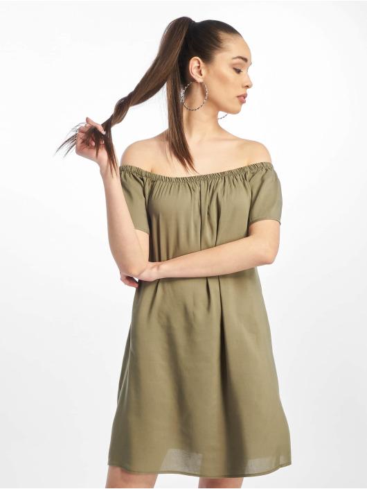 Fresh Made Sukienki Denim oliwkowy