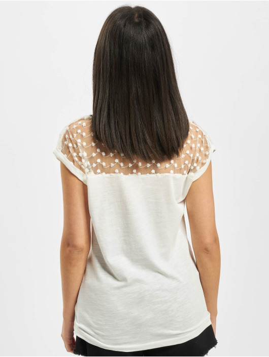 Fresh Made T-shirt Lace bianco