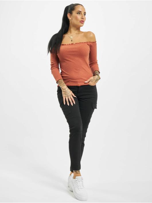 Fresh Made T-Shirt manches longues 3/4 Off Shoulder orange