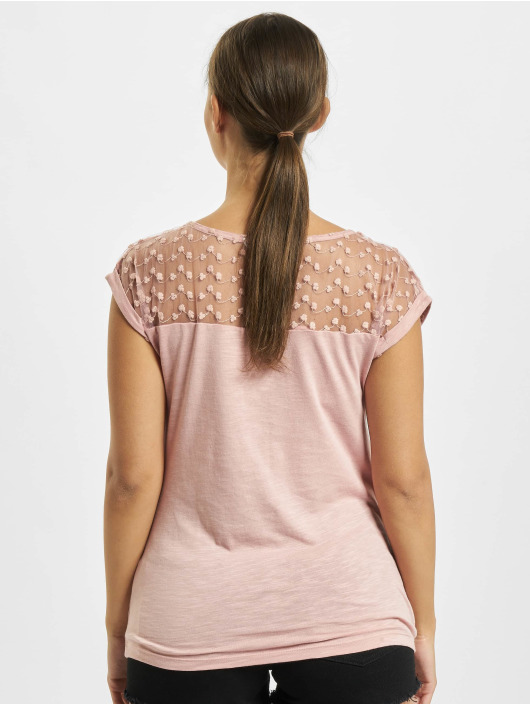 Fresh Made T-Shirt Lace rosa