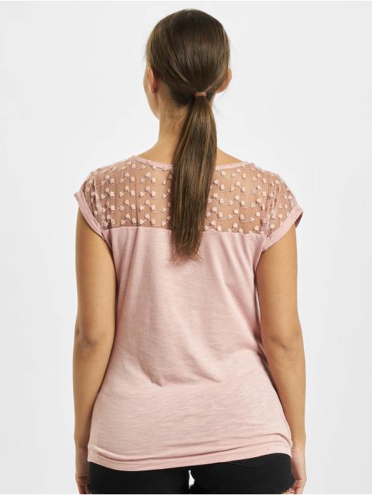 Fresh Made T-shirt Lace rosa chiaro