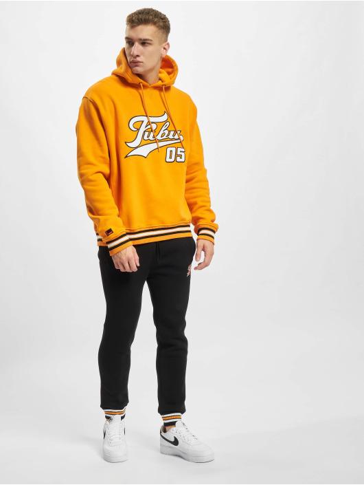 Fubu Bluzy z kapturem Varsity pomaranczowy