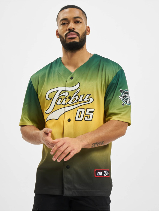 Fubu Camicia Varsity Baseball verde